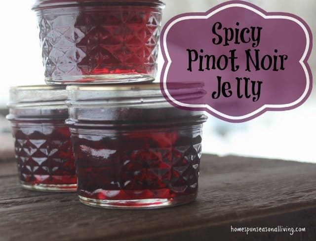 Spicy Pinot Noir Jelly - Homespun Seasonal Living