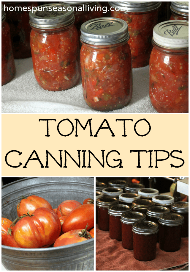 Tomato Canning Tips from Homespun Seasonal Living