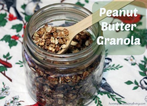 Peanut Butter Granola - Homespun Seasonal Living