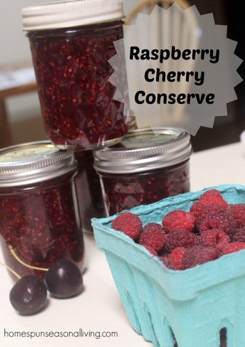 Raspberry Cherry Conserve - Homespun Seasonal Living