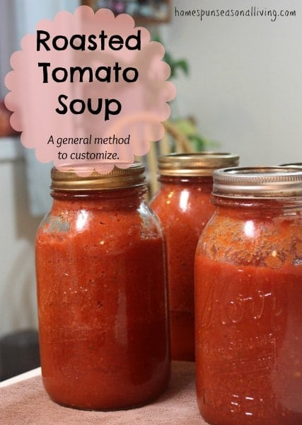Use up those homegrown tomatoes for homemade tomato soup.