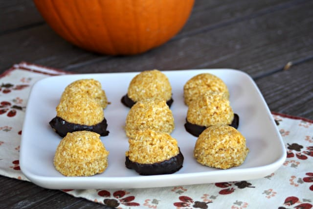 Pumpkin Coconut Macaroons are a delicately sweetened gluten-free and vegan fall-inspired cookie sure to soothe the sweet tooth and please a crowd.