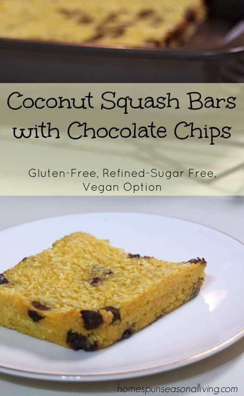 Coconut Squash Bars - Homespun Seasonal Living