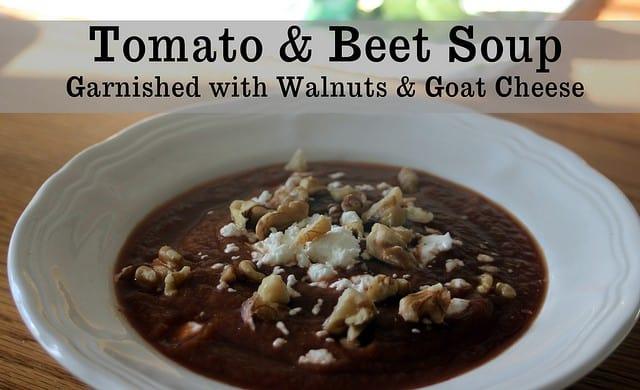 Tomato Beet Soup - Homespun Seasonal Living