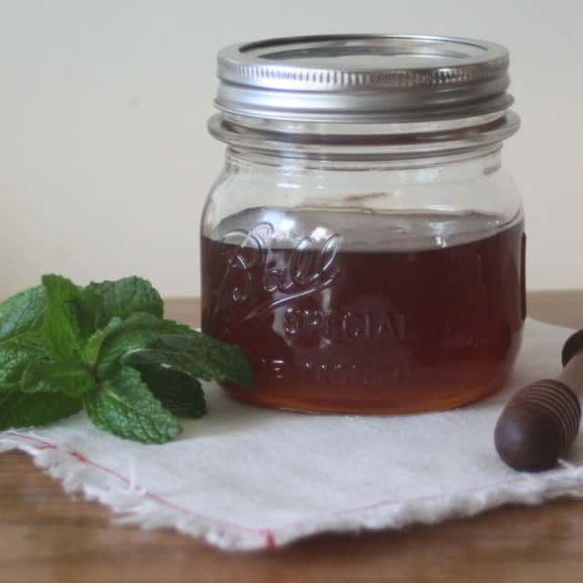 Make the most of an overgrown mint patch by making and using mint infused honey for food, herbal remedies, and body products.
