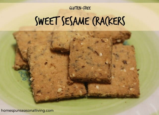 Sweet Sesame Crackers - Homespun Seasonal Living