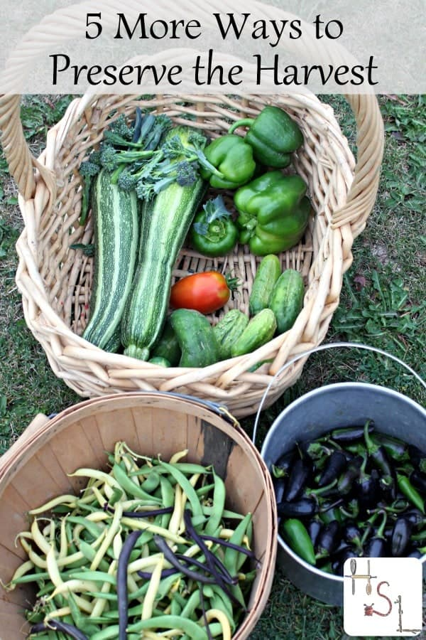 Here are 5 more ways to preserve the harvest that go beyond simple single item canning or dehydrating and help fill that pantry with homegrown goodness.