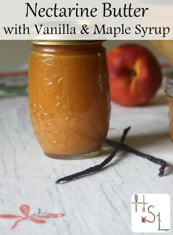 Nectarine maple vanilla butter is a thick and creamy spread made slightly sweet and warming from maple syrup and vanilla - perfect for breakfast toast.