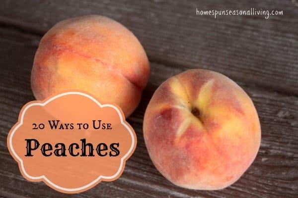 20 Ways to Use Peaches - Homespun Seasonal Living