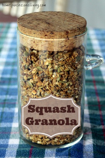 This squash granola from Homespun Seasonal Living makes great use of leftover winter squash puree (or canned pumpkin) for a delightful fall breakfast cereal.