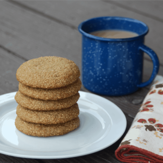 Chai spice & cream cookies whip up easily and their warming spices are perfect for fall packed lunches and afternoon sweet treats.