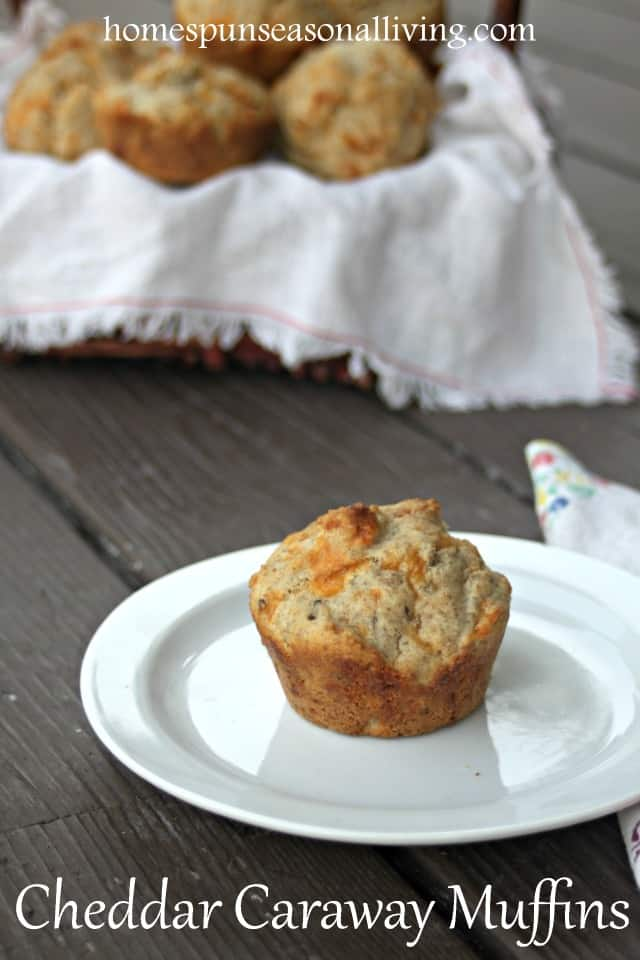 Quick and easy savory muffins perfect for soup season or potlucks, these cheddar caraway muffins are sure to please everyone at the table.