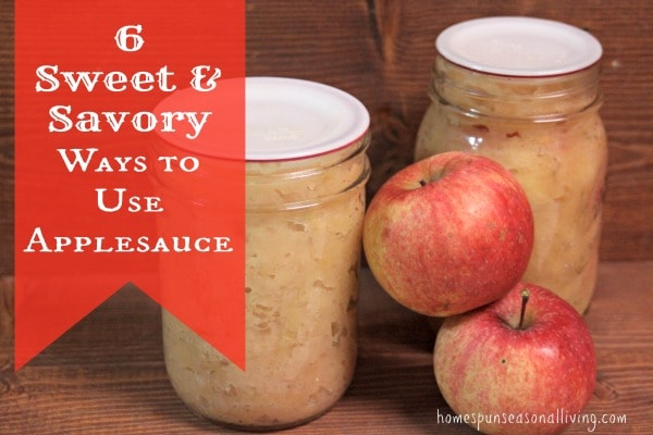Get creative with these 6 sweet & savory ways to use applesauce.