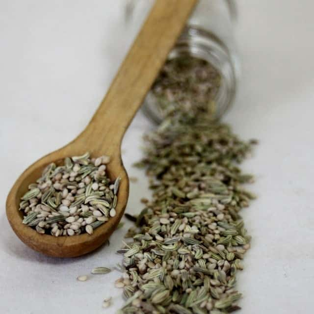 Use the power of sesame, fennel, and caraway seeds as a simple and homemade natural digestive remedy that is also easy to pack along when traveling.