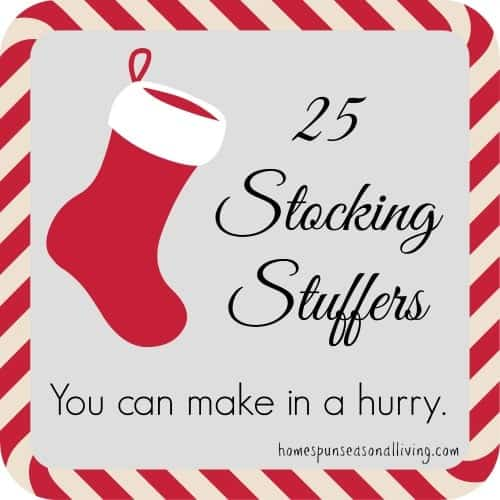 25 Stocking Stuffers | Homespun Seasonal Living