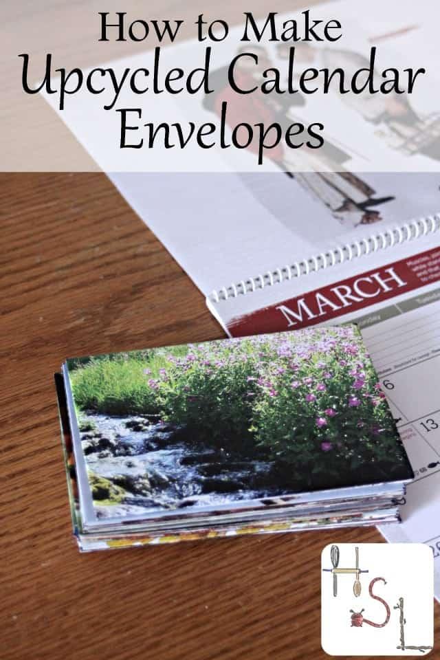 How to Make Upcycled Calendar Envelopes