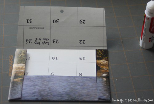 Use last year's calendars for next year's mailing needs by making upcycled calendar envelopes.