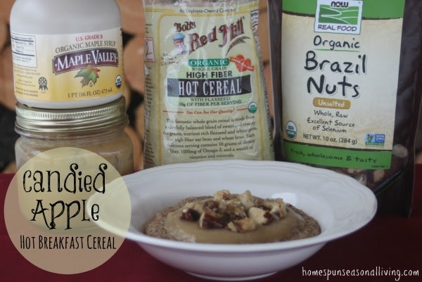 Candied apple hot breakfast cereal is a filling and naturally sweet breakfast perfect for those rushed mornings.