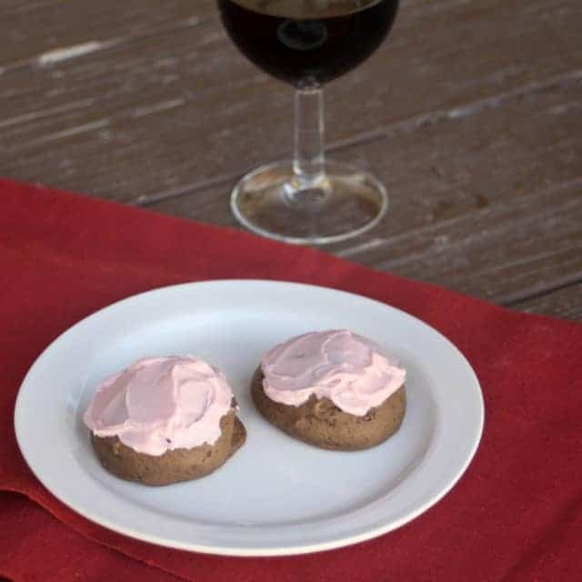Sweet, soft, and earthy these chocolate red wine cookies make a special and colorful addition to any cookie tray or buffet.