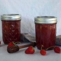 Honey Sweetened Strawberry Vanilla Jam