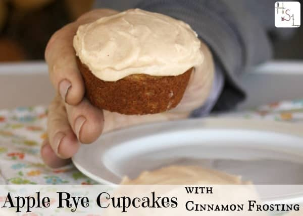 Bake up a batch of these tasty apple rye cupcakes with cinnamon frosting for someone you love today!