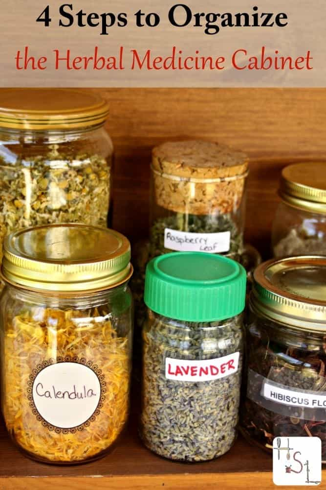 4 Steps to Organize the Herbal Medicine Cabinet