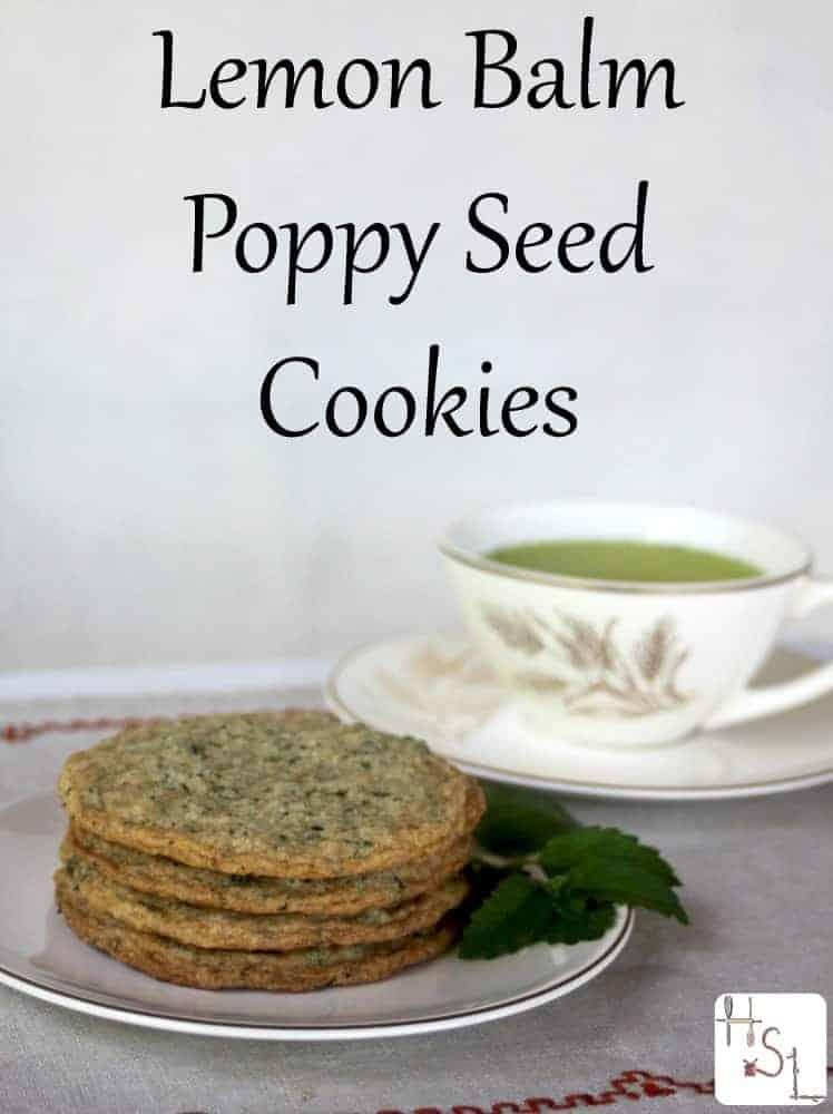 Use the herb garden harvest for some tasty lemon balm poppy seed cookies.