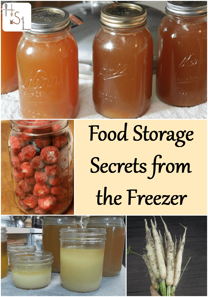 Follow these food storage secrets from the freezer to increase preserved food stores and save time during a busy canning season.