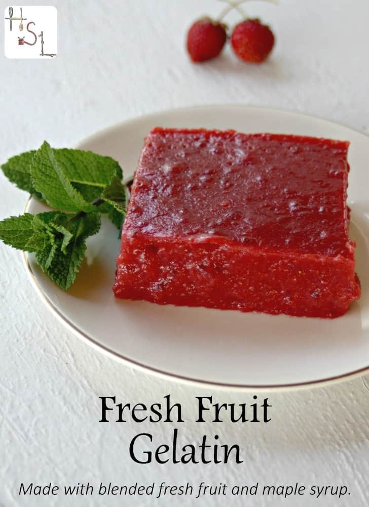 Whip up a cool and naturally sweet treat with with this fresh fruit gelatin.