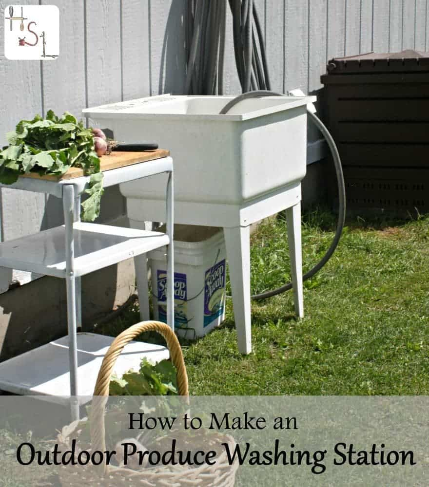 Make an Outdoor Produce Washing Station