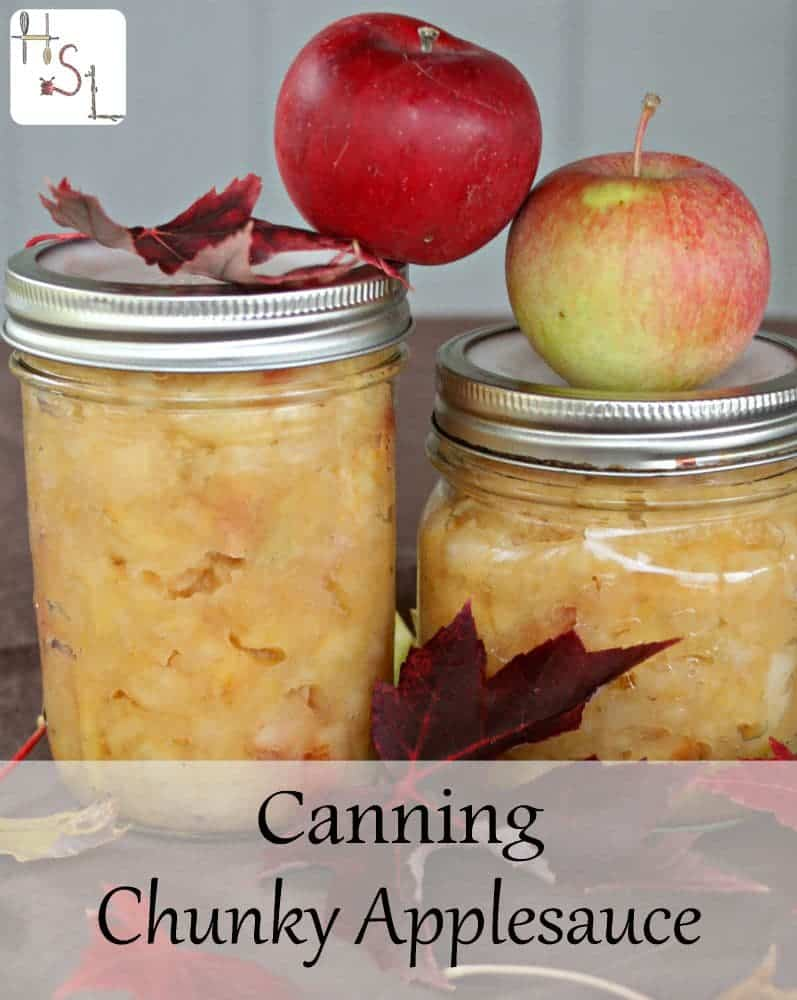 Use this quick and easy method for canning chunky applesauce this fall.