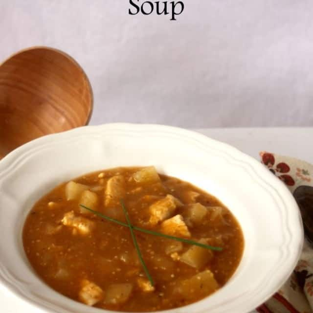 Chicken & Roasted Tomatillo Soup | Homespun Seasonal Living