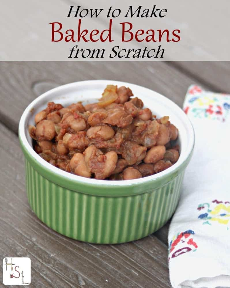 Learn how to make baked beans from scratch for a frugal and tasty meal or side dish.