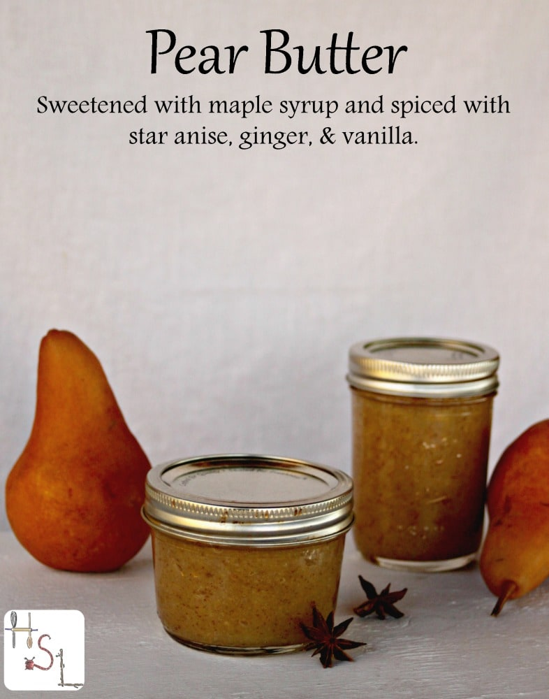 ... maple syrup and spiced with star anise, ginger, and vanilla for a