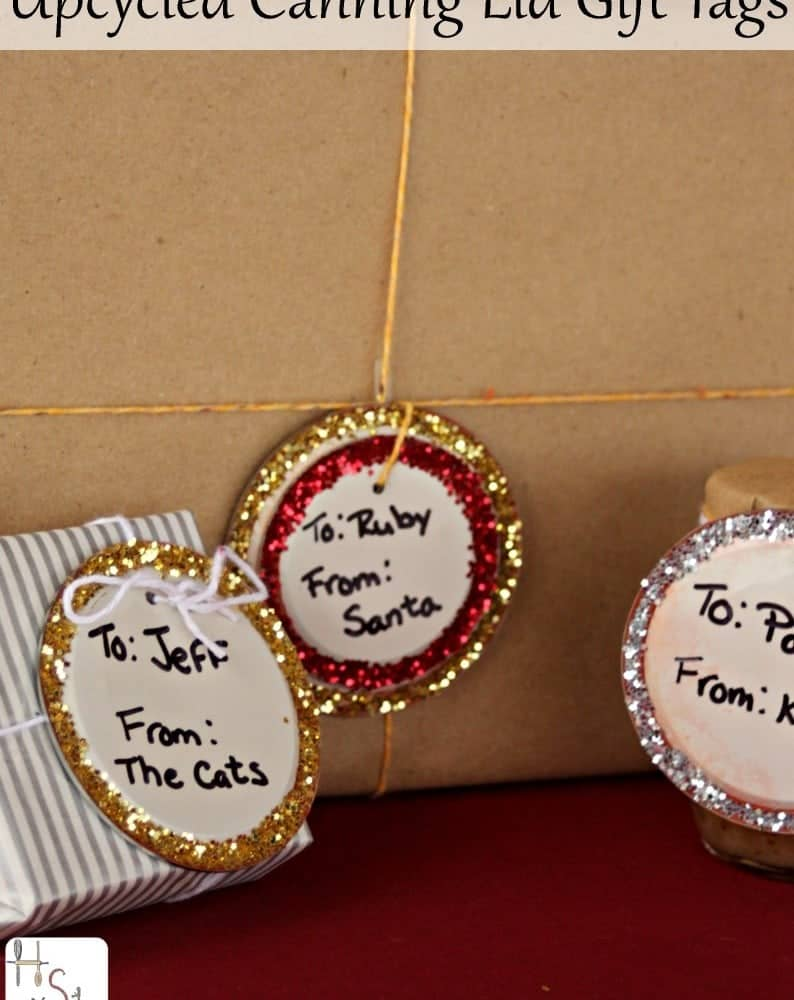 Upcycled Canning Lid Gift Tags