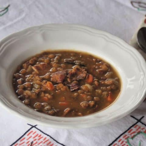 Lentil Bacon Soup