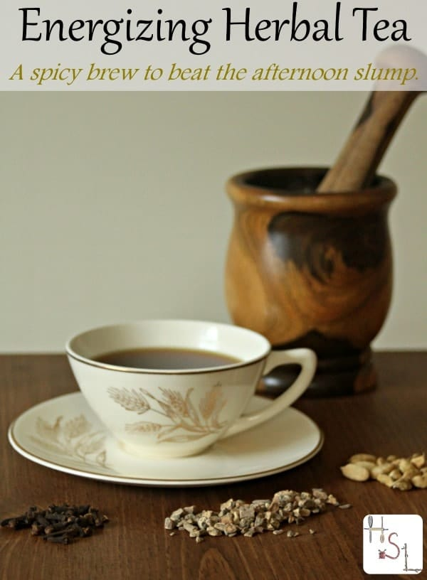 Beat that afternoon slump or the occasional bout of fatigue with this tasty and natural energizing herbal tea blend.