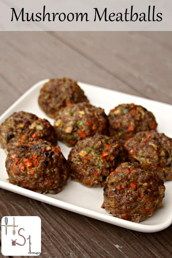 Mushroom meatballs are full of vegetables and flavor perfect as a main dish, served on a bun, over pasta, and more.
