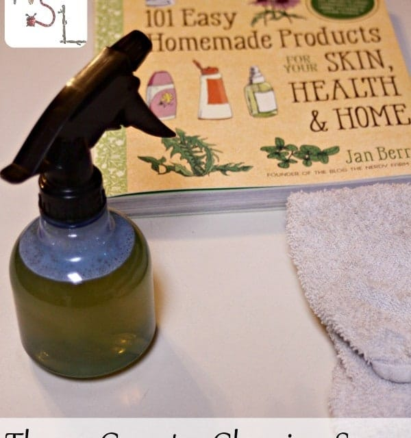Use this Thyme Counter Cleaning Spray, from 101 Easy Homemade Products for Your Skin, Health & Home, to naturally and easily keep those counters clean.