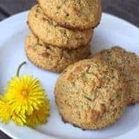 Dandelion Peanut Butter Cookies