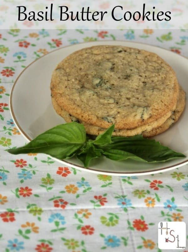 Try using up some of the abundance of homegrown herbs in a sweet, crunchy, and rich treat with these easy-to-whip-up basil butter cookies.
