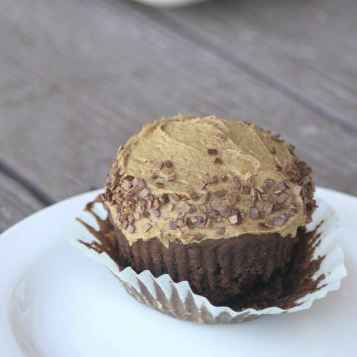 Chicory Chocolate Cupcakes with Chicory Cream Cheese Frosting