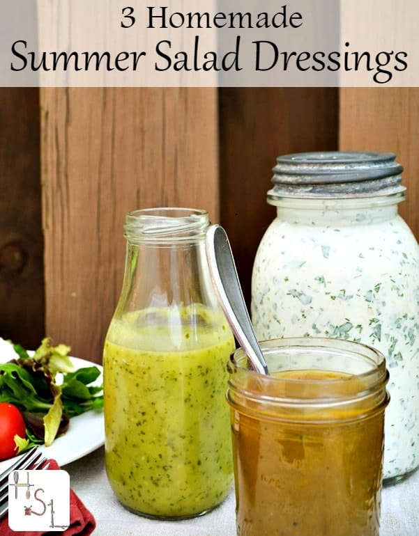 Dress those fresh greens with these three homemade summer salad dressings that skip all the dubious ingredients and fill the body with healthy nutrition.