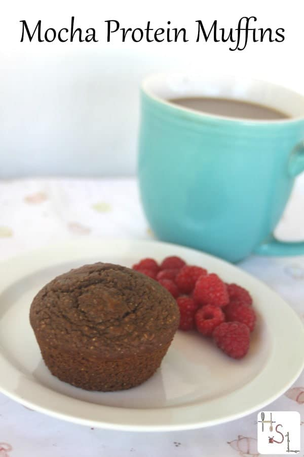 Fuel your day with protein in an easy to grab and go package with these flavorful and easy to bake up mocha protein muffins.