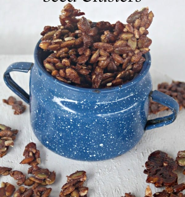 Bake up a batch of these sweet and salty seed clusters to take on a hike or to give guests as treat after entertaining them for a night or weekend.
