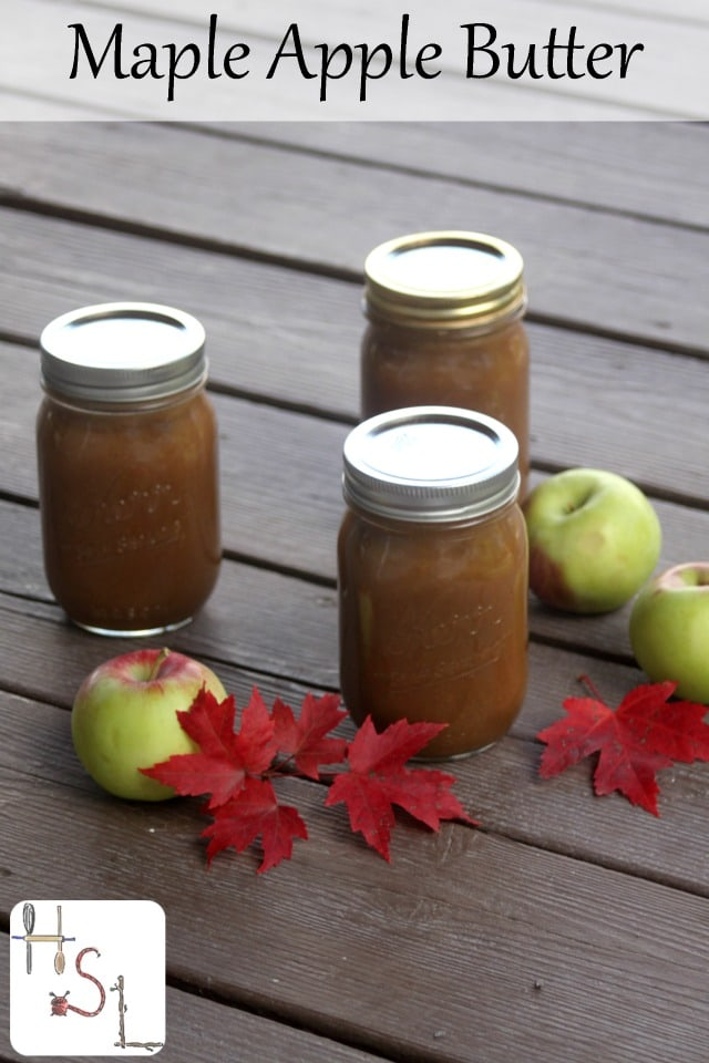 Preserve the abundance of fall apples for winter eating and gift giving with this lightly and naturally sweetened maple apple butter.