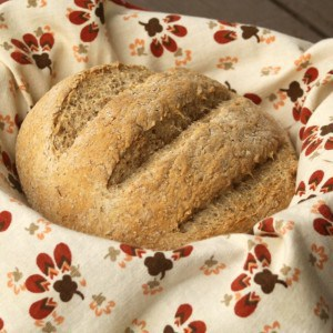 Learn how to bake a basic loaf of bread from flour, water, salt, and yeast and no other special equipment with this easy method.