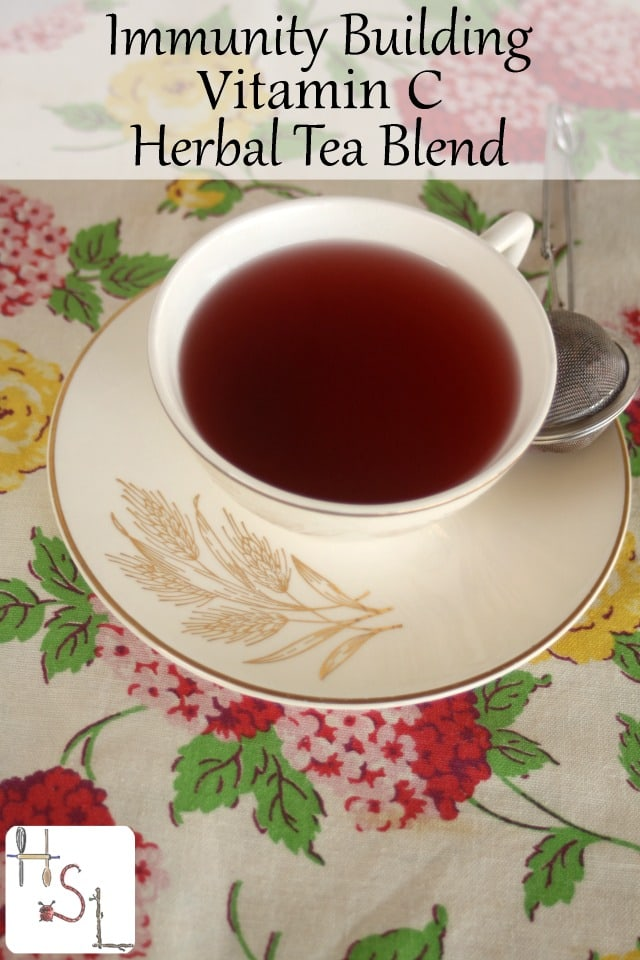 Fight cold and flu season with this tasty immunity building Vitamin C herbal tea blend. Tart and spicy this medicine is a delight to drink.