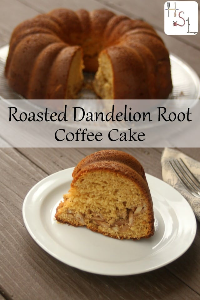 Use homegrown weeds for a delicious infused roasted dandelion root coffee cake. Yeasted and lightly sweet, it makes for an elegant brunch dish.