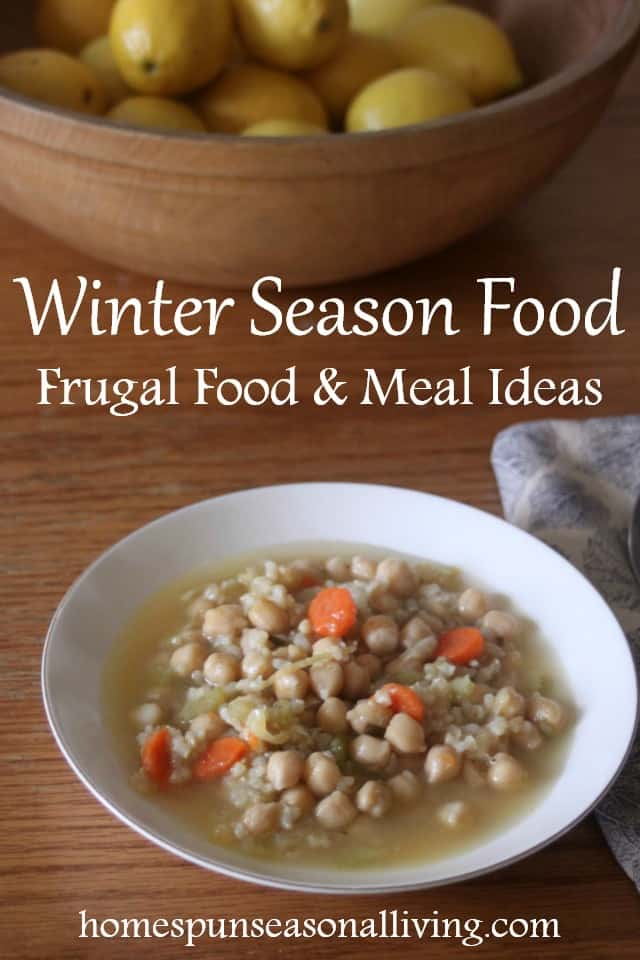 Make the most of winter season food with these frugal foods and meal ideas that make the most of what's fresh and thrifty for the season.